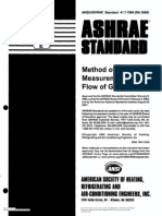 ASHRAE~3Method of Test for Measurement of Flow Gas