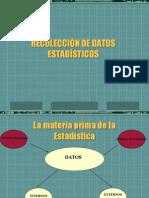 RECOLECCIÓN DE DATOS ESTADÍSTICOS