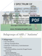 The Broad Spectrum of Autism Individualizing Approaches