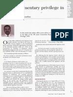 Main Parlia Priveledge Document Suggestions