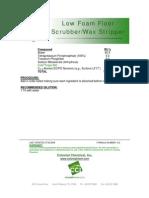 Low Foam Floor Scrubber-Wax Stripper - 012