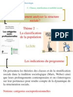 Thème 2 - La classification de la population