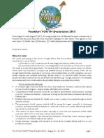 Frankfurt Youth Declaration 2013_Declaration_final