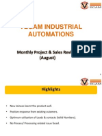 Monthly Review Projects & Sales