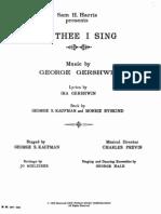 Gershwin of Thee I Sing