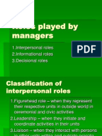 Manaement - Managers and Roles