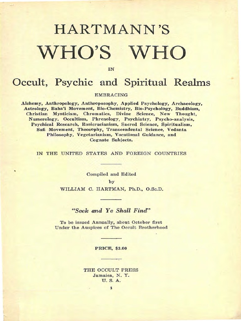 1925 hartmann whos who in occult psychic and spiritual realms r 1925 hartmann whos who in occult psychic and spiritual realms r spiritualism spirituality fandeluxe Choice Image