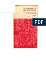 Giuliano Gliozzi (a Cura), La Scoperta Dei Selvaggi. Antropologia e Colonialismo Da Colombo a Diderot