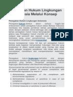 Penegakan Hukum Lingkungan Di Indonesia Melalui Konsep AMDAL
