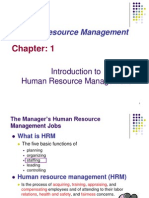 The Presentation on the Basics of Human Resource Management