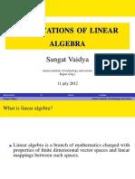 Applications of Linear Algebra
