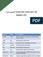 Melayari Internet Mencari 10 Badan 2D
