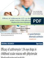 Efficiency of Azithromysin 1,5% Eye Drops In