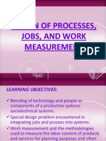 Design of Processes, Jobs, And Work