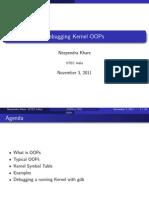 Debugging Kernel OOPs FUDCon2011