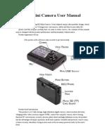 Mini Camera User Manual