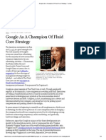 Google as a Champion of Fluid Core Strategy - Forbes