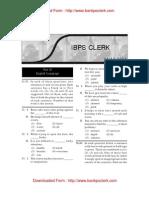 IBPS Clerk Exam Paper Helo on 11-12-2011 Test 2 English Language Www.bankpoclerk.com
