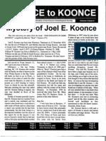 Koonce To Koonce Newsletter - Volume 4, No. 2