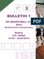 ISF Basketball 3x3 2014 Bulletin 1 E