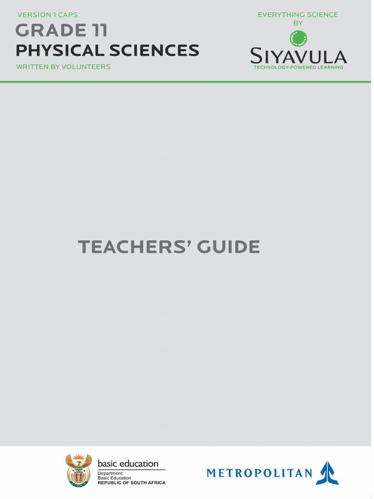 science grade 11 caps teachers guide curriculum learning rh es scribd com Holt Physics Study Guide Answers Physics Study Guide Chapter 1