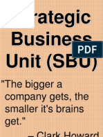 3. Strategic Business Units (SBU)
