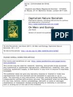 On Marx and Ecology