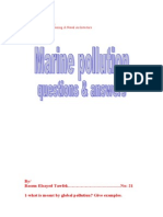 Marine pollution Questions & answers