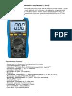 Minipa Características Técnicas - ET-2042C