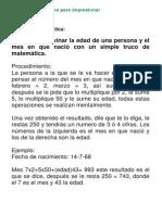 Trucos matemáticos para impresionar