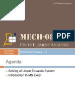 MECH0801 Wk 03 Excel Lec