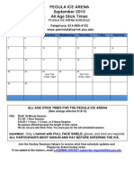 September 2013 Pegula Ice Arena Stick Times