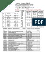 MBA II Term IV Week 8-10 Time Table