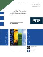 Closing the Electricity Supply Demand Gap_World Bank2007_CaseRD