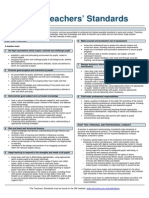 teachers standards information
