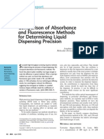 COMPARISON ABSORBANCE AND FLUORESCENCE METHODS FOR LIQUID PRECISION