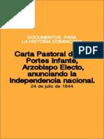 Carta Pastoral de Julio de 1844 Del Arzobispo Tomas Portes e Infante