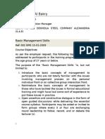 Basic Management Skills 15-01-2009