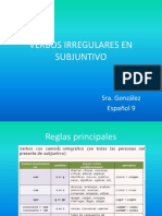 verbos irregulares en subjuntivo