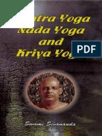 Tantra Yoga Nada Yoga Kriya Yoga by Swami Sivananda