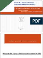 Modelo de Apresentacao Organizacao e Metodologia Da Educacao Infantil 2013 Ana