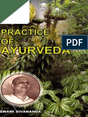 Practice of Ayurveda by Swami Sivananda   Ayurveda   Medicine
