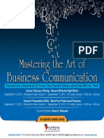 Mastering the Art of Business Communication Sep 2013
