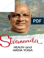 Health and Hatha Yoga by Swami Sivananda