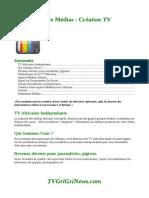 Projet Agence Médias Création TV Africaine
