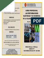 Bifolio - Curso Profesional Las Perturbaciones Eléctricas y su Incidencia en la Calidad