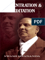 Concentration and Meditation 14th Edition by Swami Sivananda