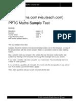 11plusexams Pptc Maths Sample Test