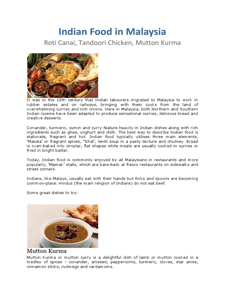 Indian food in malaysia indian cuisine curry forumfinder Image collections