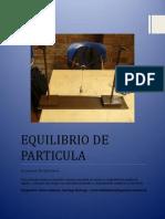 Equilibrio de Particula(Informe)